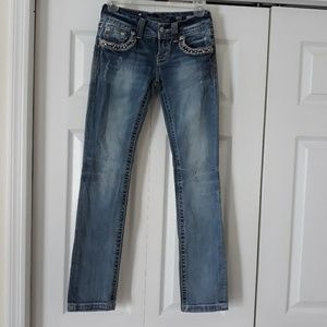 MissMe JE5755T3R Straight Distressed Jeans size 25